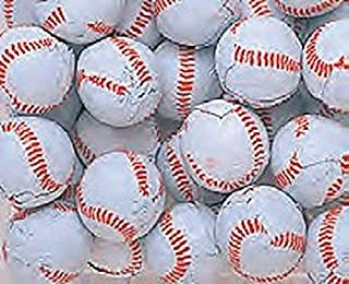 Chocolate Candy Baseballs - Bulk Chocolate Baseball Candy - 3 Pounds - Approximately 240 Pieces - Comes in a Sealed / Resealable Candy Bag