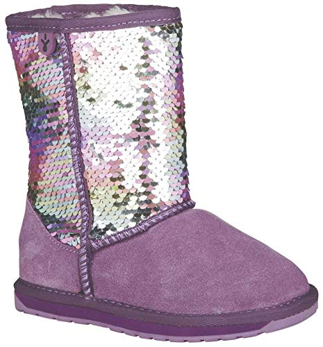 EMU Australia Kids Wallaby Sequin Deluxe Wool Boots Size 3 EMU Boots Grape