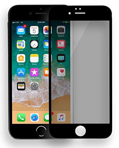 MyGadget Blickschutz Folie für Apple iPhone 6 / 6s - Schutzglas 9H Anti Spy Glasfolie Full Screen - Sichtschutz Privacy Protector Schutzfolie in Schwarz