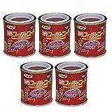 アサヒペン 油性スーパーコート 1/12L 赤さび 【まとめ買い5缶セット】