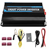 Power Inverter Car Inverter, 2000W 12V to 220V Pure Sine Wave Power Voltage Inverter Transformer Auto Accessory