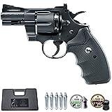 Revólver Colt Python 2,5' | Pack Arma de Aire comprimido (CO2) y balines (perdigones) Calibre 4.5mm + maletín + 2 Cajas de balines
