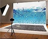 Fondos modernos de vinilo para fotos de 20 x 10 pies, imagen de acuario como agua, con burbujas, salpicaduras, gotas de arte, fondo para selfie, fiesta de cumpleaños, fotos de cabina de fotos
