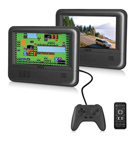 RCA Dual Screen Portable DVD Player & Game Pad System - Set of Two 7' Screens, (6-Piece Kit) - (DRC62705E24G)