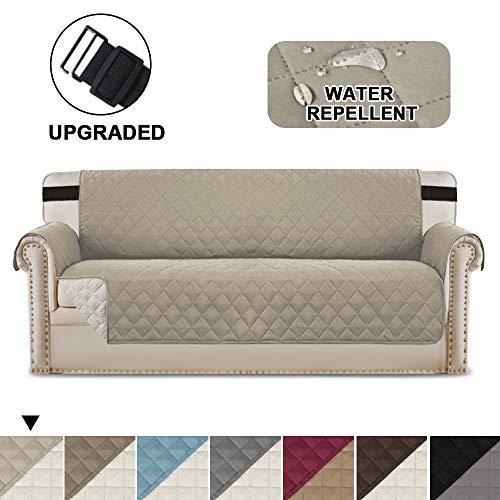 Premium Reversible 3-Sitzer Sofa Schonbezug, Wendbare Gesteppte Möbel Protector, 2