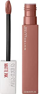 Maybelline New York SuperStay Matte Ink 65 Seductress - nude liquid lipstick - 5 ml, 65 Mega Matte|Seductress