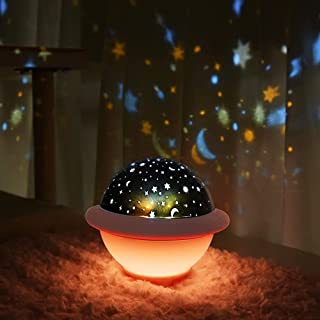 UFO Night Light for Kids, Galaxy Starry Projector, Space Universe Night Light, Galaxy Projector, Stellar Lamp for Internat...