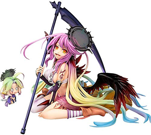 XUFAN Anime Figure Statue NO Game NO Life Jibril Great War Ver. 1:7 Scale PVC Action Figuren Modell Unbewegliche Spielzeug Sammelfiguren Animespielzeug Realistische Desktop-Dekoration Geschenke