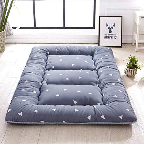 Anzkzo Futon Mattress Japanese Floor mat Folding Topper Mattress Floor mat Quilting Soft Thicken Floor Mat-180X200CM A.