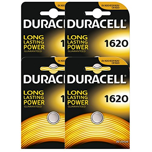 4 x Duracell CR1620 DL1620 ECR1620 3V Lithium Button Battery Coin Cell Batteries