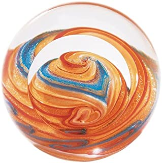 Glass Eye Studio Jupiter Blown Glass Paperweight