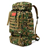 JUNGEN Trekking-Rucksack 80L Backpacker Rucksack Wandern Daypacks für Weltreise, Camping, Outdoor, Backpacking, verstellbar