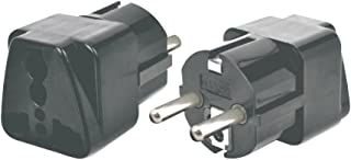 MAXCART 16A Universal Conversion Travel Plug Adapter Suitable for Germany, France, Europe (Black) - Pack of 3