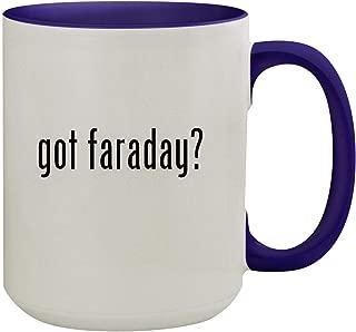 got faraday? - 15oz Ceramic Inner & Handle Colored Coffee Mug, Deep Purple