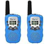 Jonephe Walkie Talkies for Kids 2 Pack Long Distance Walkie Talkie with Backlit LCD 8 Channels 2 Way Radio Kids Gifts for 3-12 Year Old Boys & Girls, for Camping,Outside Adventures (Blue)