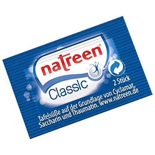Natreen Classic Streifentabletten Süßstoff, für Kaffee oder Tee Papiertütchen mit je 2 Tabletten