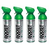 4 Pack Large 10-Liter Boost Oxygen Portable Pure Canned Natural Oxygen Canister Bottle for High Altitudes, Athletes, and More, Flavorless