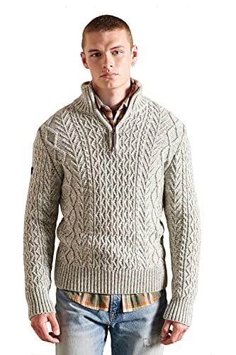 Superdry Herren Jacob Henley Pullover Sweater, Concrete Twist, M