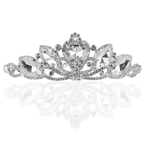 Pixnor Brautmoden Princess Strass Kristall Hochzeit Tiara Krone 02