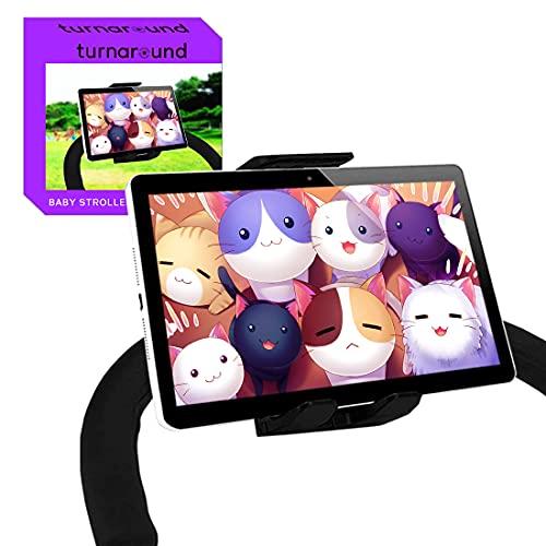 Soporte Tablet Carrito Bebe Compatible con Todos los tamaños de Tablets y Todos los carritos de Bebe del Mercado Soporte Tablet Cochecito Bebe