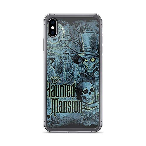 JSBFR Funda Compatible con iPhone 12 Mini Case Haunted Mansion Welcome Ghosts House Park Halloween Phone Case