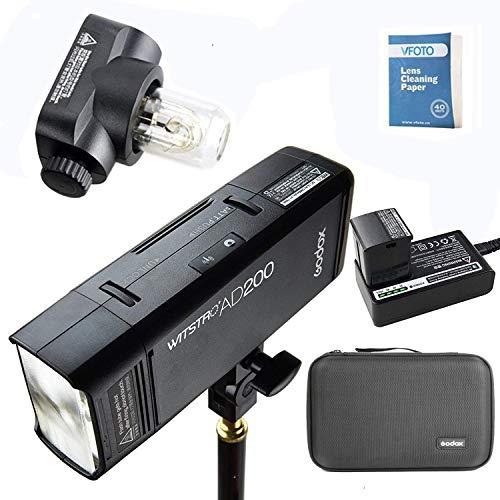 Godox AD200 2.4G TTL Bolsillo Flash 200Ws TTL HSS 1 / 8000s Flash Con 2900mAh Litio Batería Para Nikon Canon Sony Fujifilm Olympus Panasonic Pentax EOS Cámaras(AD200)