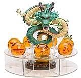 M C S Figura Dragon Shenron PVC Dragon Ball Z (verde naturale) + 7 palline di Dragon Ball da 3,5 cm di diametro + ripiano espositore DBZ Figura collezione Goku Dragon Ball Super Spettacolare Akira