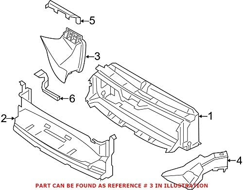 Ranking TOP8 Genuine OEM Front Passenger Right Support Radiator Air Duct San Antonio Mall For