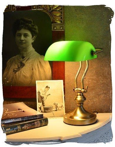 Bankerleuchte Jugendstil wie anno 1900 Bankerlampe Schreibtischleuchte xcl115 Palazzo Exklusiv