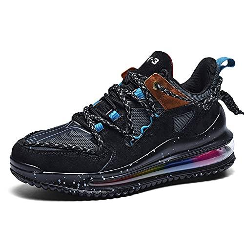 N\C Zapatos de hombre de gran tamaño de moda zapatos deportivos de malla transpirable zapatos casuales adecuados para deportes al aire libre