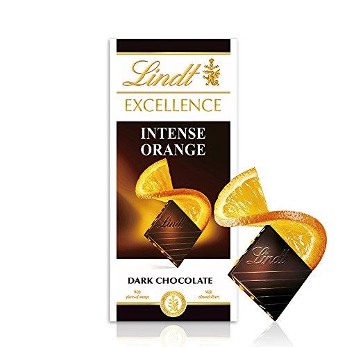 Lindt Excellence – Tableta de chocolate negro con naranja, 100 g