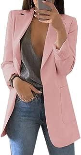 Yeirui Womens Casual Open Front Long Sleeve Work Office Blazer Jacket