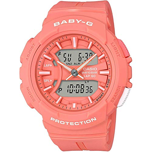 BABY-G Damen Analog-Digital Quarz Uhr mit Harz Armband BGA-240BC-4AER