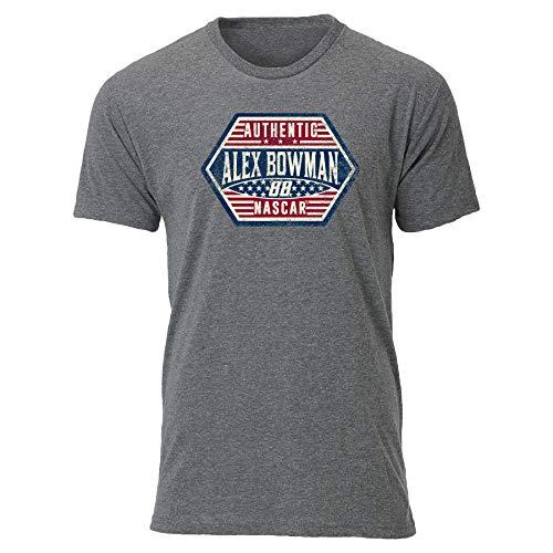 Ouray Sportswear Herren NASCAR Tri Blend S/S Tee Alex Bowman, Premium Heather Grey, XL