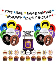 Friends TV Show Party Supplies,Friends Show Themed Banner,Friends Birthday Party Decorations Supplies Set Themed Happy Birthday Decorations for Kids Adults Party Decorations