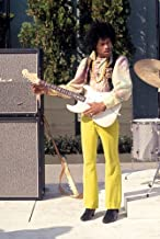 Jimi Hendrix Color 24x36 Poster 1970 on stage with guitar