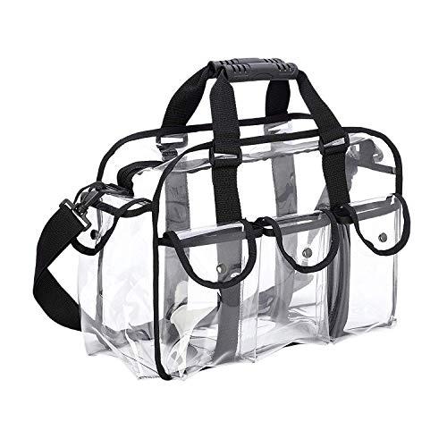 Cuasting Clear Travel Makeup Bag Shoulder Strap Adjustable for Women Men, Travel, Beach