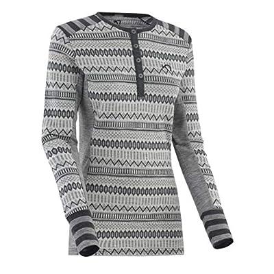 Kari Traa Women's Akle Base Layer Top - Long Sleeve 100% Merino Wool Thermal Shirt Dove Medium