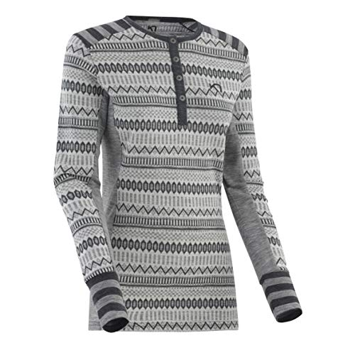 Kari Traa Women's Akle Base Layer Top - Long Sleeve 100% Merino Wool Thermal Shirt Dove Small
