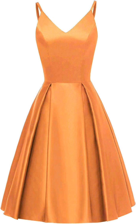 DINGZAN Satin Bridesmaid Dresses Short Homecoming Dresses