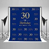 30歳の誕生日アートプロの写真写真の装飾のための新しい1.5×2.1m(5x7ft)ロイヤルブルーの写真の背景の背景