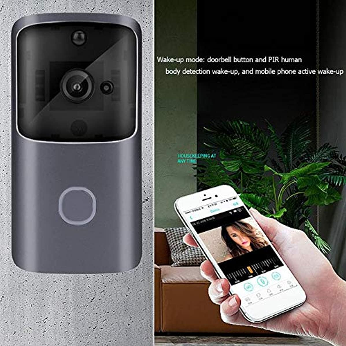 Blue-Ocean-11-720p WiFi Smart Video Doorbell Camera APP Control Remote Monitoring Video Intercom Home Safety System Doorbell