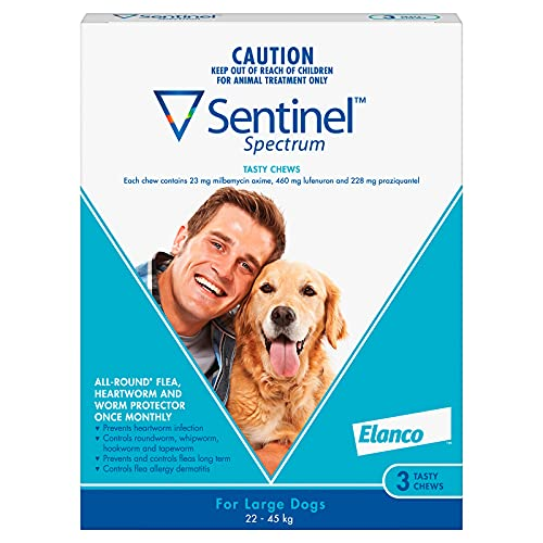 Sentinel Spectrum Blue Tasty Chews for Large Dogs, 3 Count