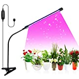 Plant Grow Lights, 20W LED Growing Lamps for Indoor Plants, Full Spectrum 9 Dimmable Levels 3 Modes Timing Function, 1 Head