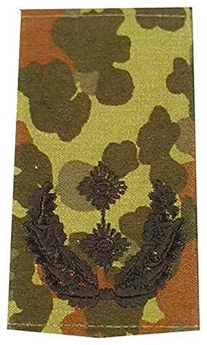 MFH 1 Paar Bundeswehr Rangabzeichen Flecktarn/Schwarz Rangschlaufe Rangschlaufen Abzeichen Schlaufe Verschiedene Dienstgrade (Oberstleutnant)