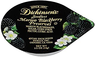 Dickinson's Seedless Blackberry Preserves, Portion Control, ½ Ounce, 200 Count