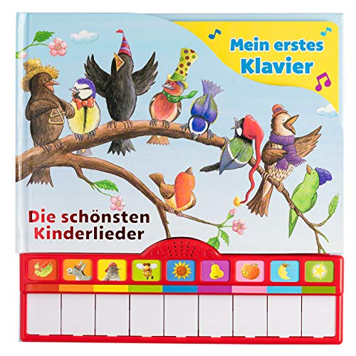 Singst du mit? Die schönsten Kinderlieder - Mein erstes Klavier - Kinderbuch mit Klaviertastatur, 9 Kinderlieder, Vor- und Nachspielfunktion, Pappbilderbuch ab 3 Jahren
