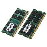 SODIAL 2x 2GB DDR2 PC2-5300 SODIMM RAM Memoria 667MHz 200-pines ordenador portatil