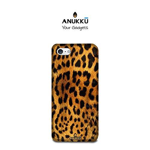 Anukku Custodia Cover Trasparente Ultra Slim Fina in Air Gel 0.3mm Design Leopardato per Apple iPhone 7