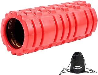 Soomloomグリッドフォームローラー EVA 14cm*33cm 多色 超軽量 筋膜リリース・マッサージ・ダイエット ヨガ・ストレッチ器具 バランストレーニング 中空・中実
